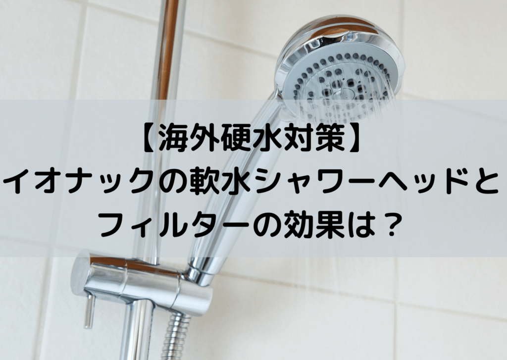 海外 硬水対策 フランス イオナック シャワーヘッド フィルター 効果