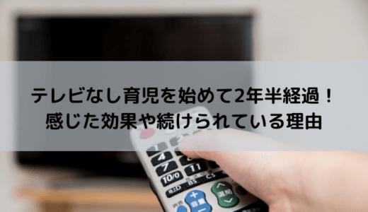 【続編】テレビなし育児はメリットだらけだった!2年半続けた効果は?